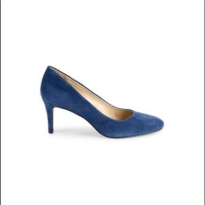 Lord & Taylor Blue Suede Pumps